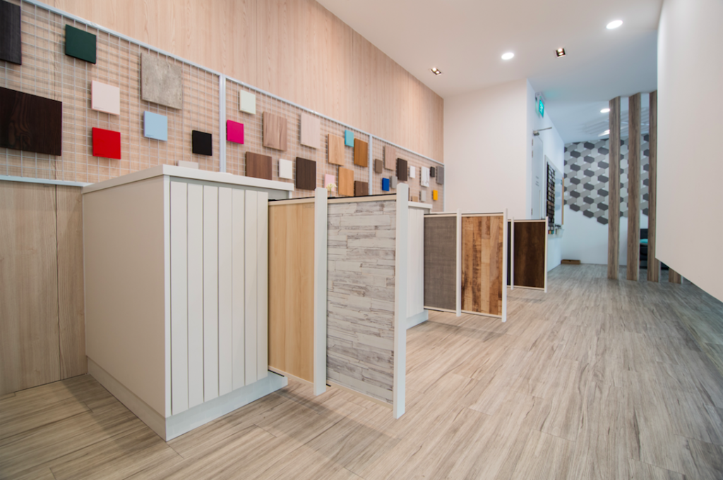 Laminate showroom