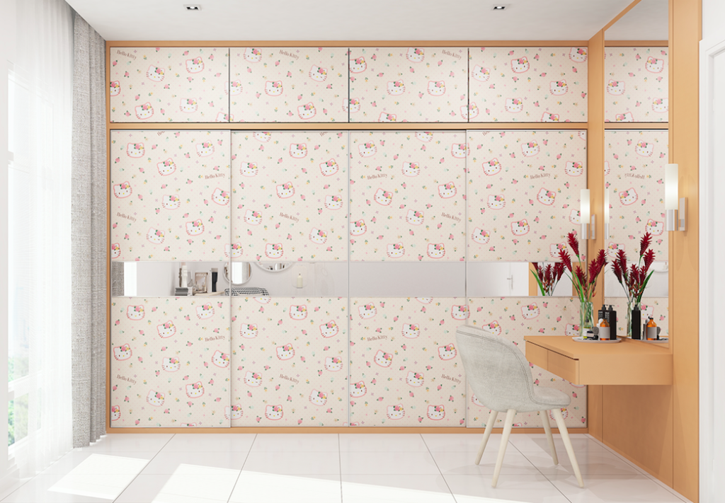 Hello Kitty orange - cabinet laminate singapore